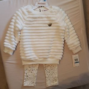 Cream and gold toddler juicy couture set